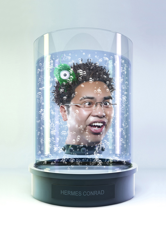 Heads in a Jar - Hermes Conrad by Tommy Yung