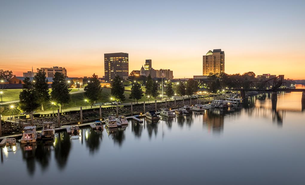 Downtown Augusta, GA skyline at Dusk by Jason Berry