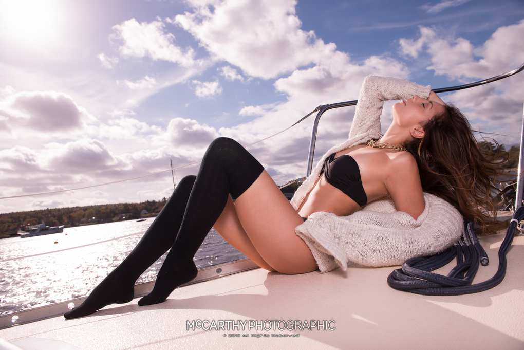 Lia Basking in the Sun by Mike McCarthy