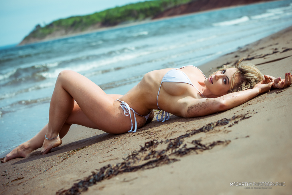 Christie on the Beach by Mike McCarthy