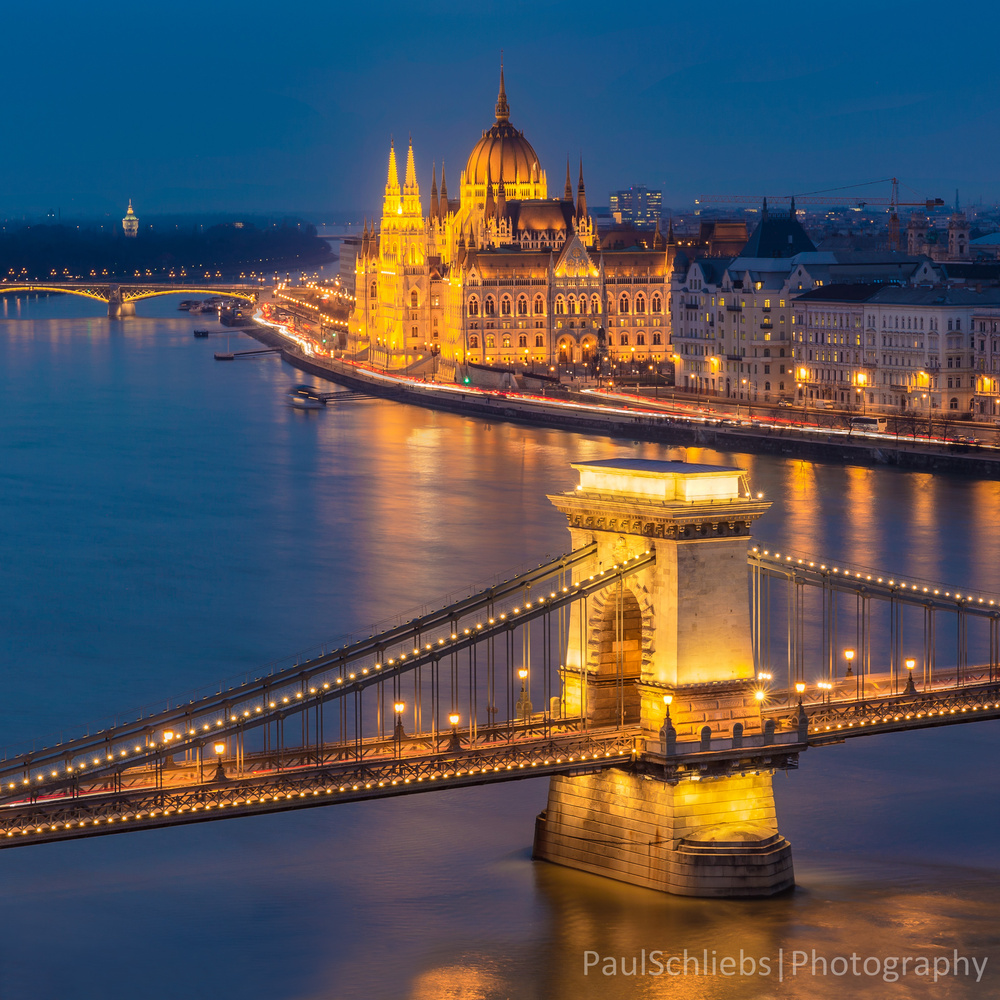 Budapest in the Blue Hour by Paul Schliebs