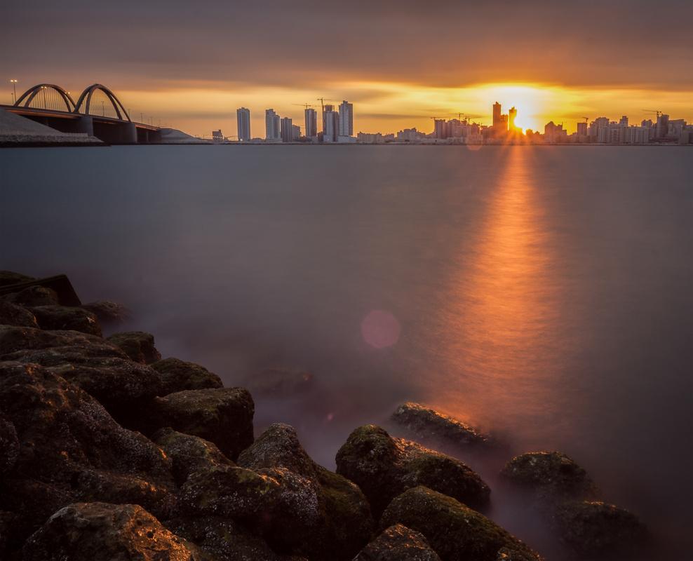 Golden Hour Sunset by Mustafa Bastaki