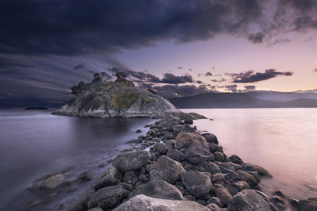 the rock of Whytecliff by Giorgio Rivalta