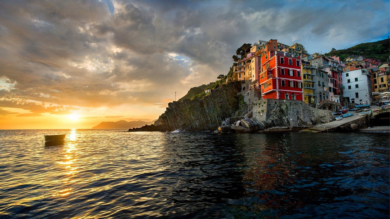Riomaggiore in Cinque Terre by Heath Smith