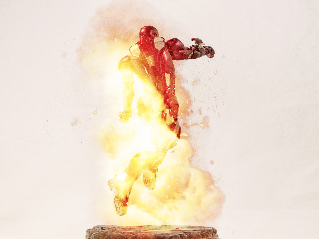 Iron Man Fire by David Fuentes