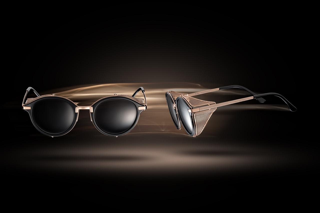 Flying golden sunglasses by Paweł Kruchowski