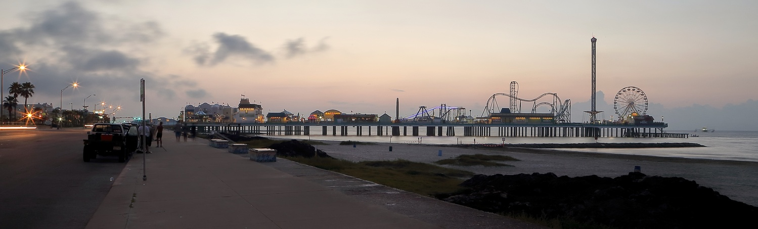 Pleasure Pier at Dawn by Dudley Didereaux