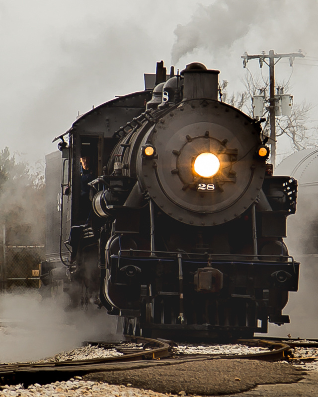 Old 28  RR Steam engine by Dudley Didereaux