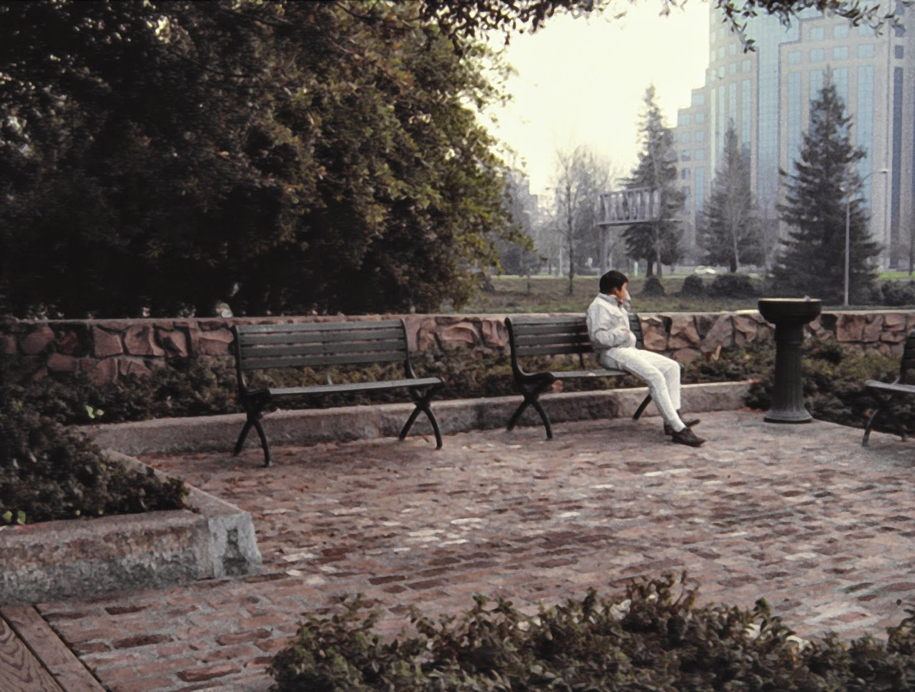Man on Bench  by Dudley Didereaux
