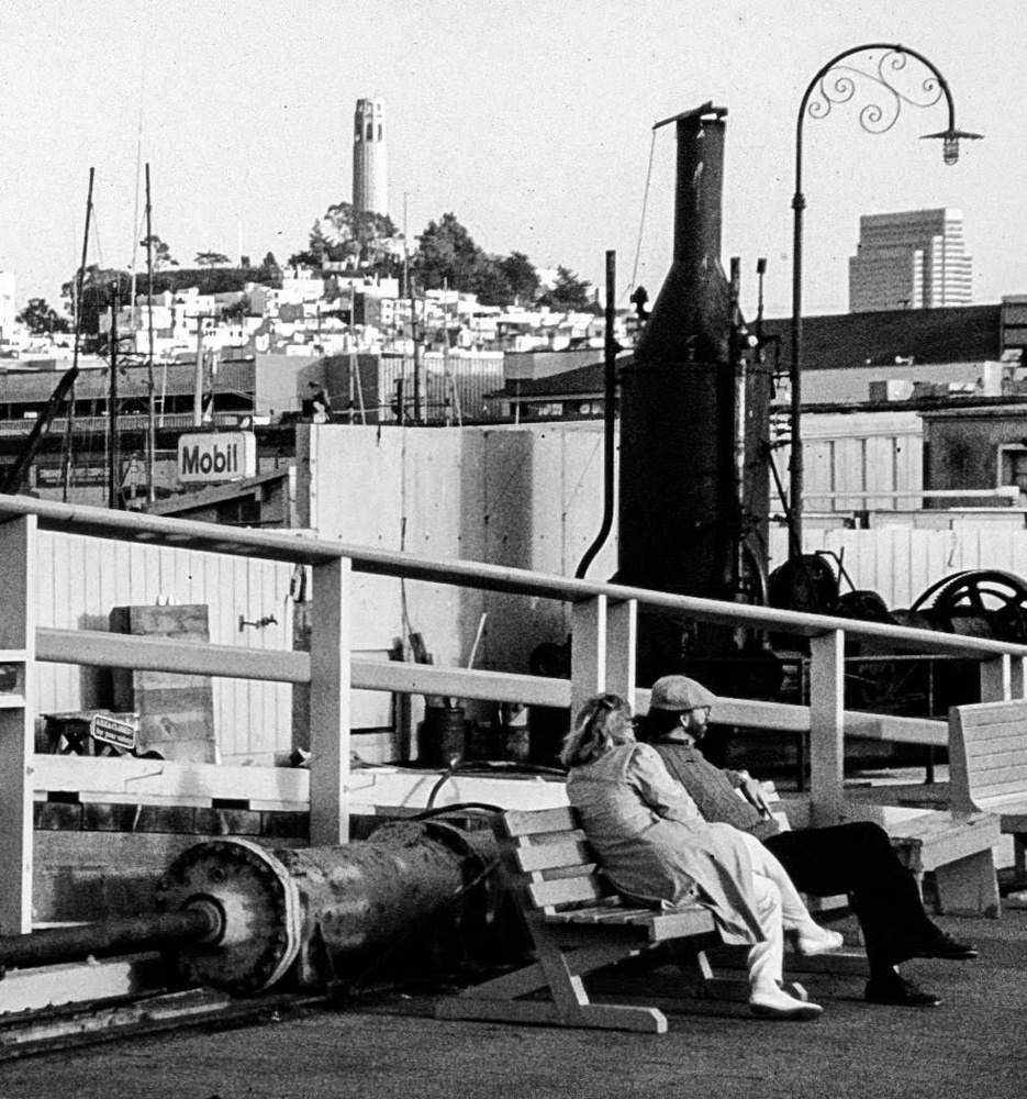 San Francisco from Balclutha's pier by Dudley Didereaux