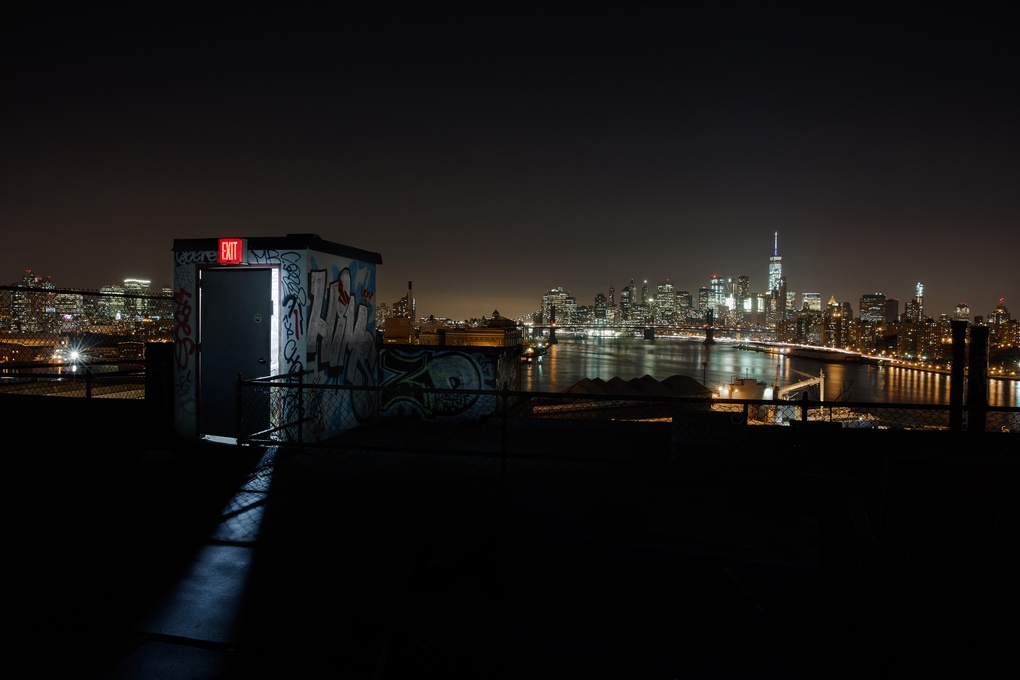 Rooftop lights by Yves Guillaume
