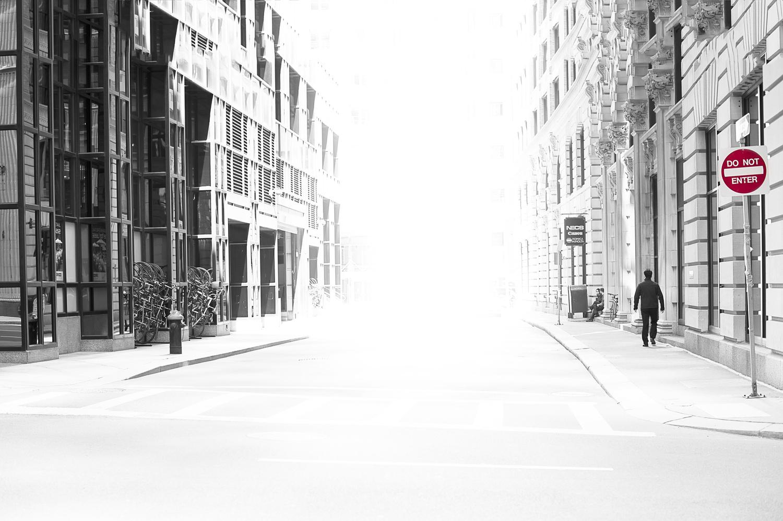 Boston DO NOT ENTER street by Janna Broski