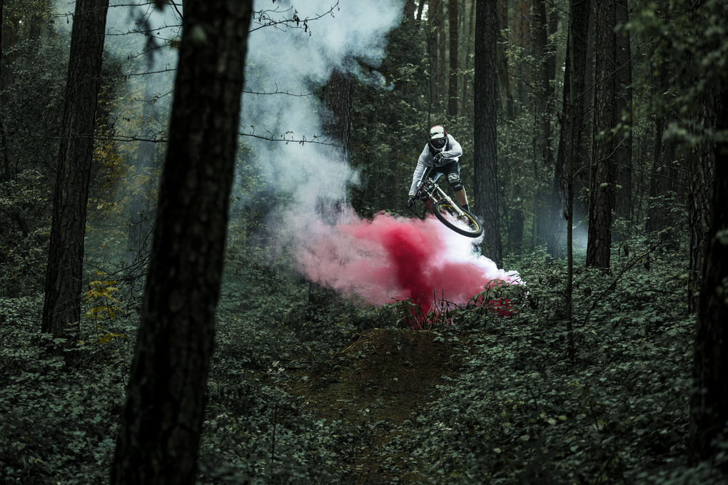 Forest - Downhill with Smoke by Hannes Pablitschko