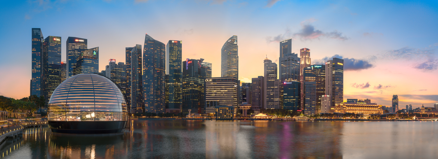 Marina Bay Singapore Panorama Blending Moments in Time by jack peh