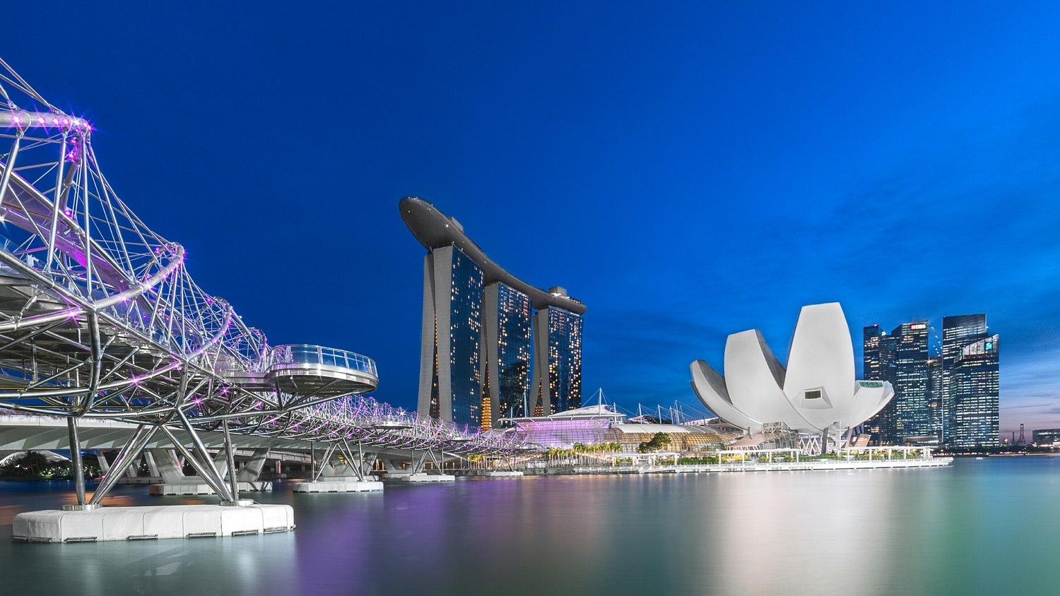Marina Bay Sands PM blue hour by jack peh