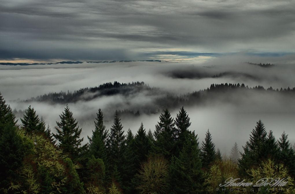 Over the valley by Andrew DeWitt