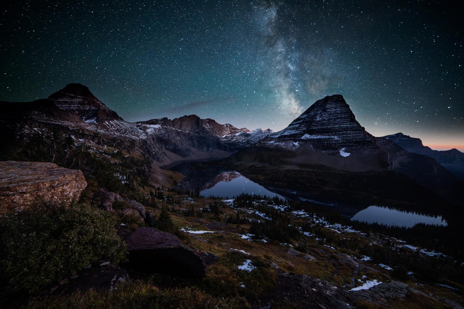 Night Views of Hidden Lake by Jason Hatfield