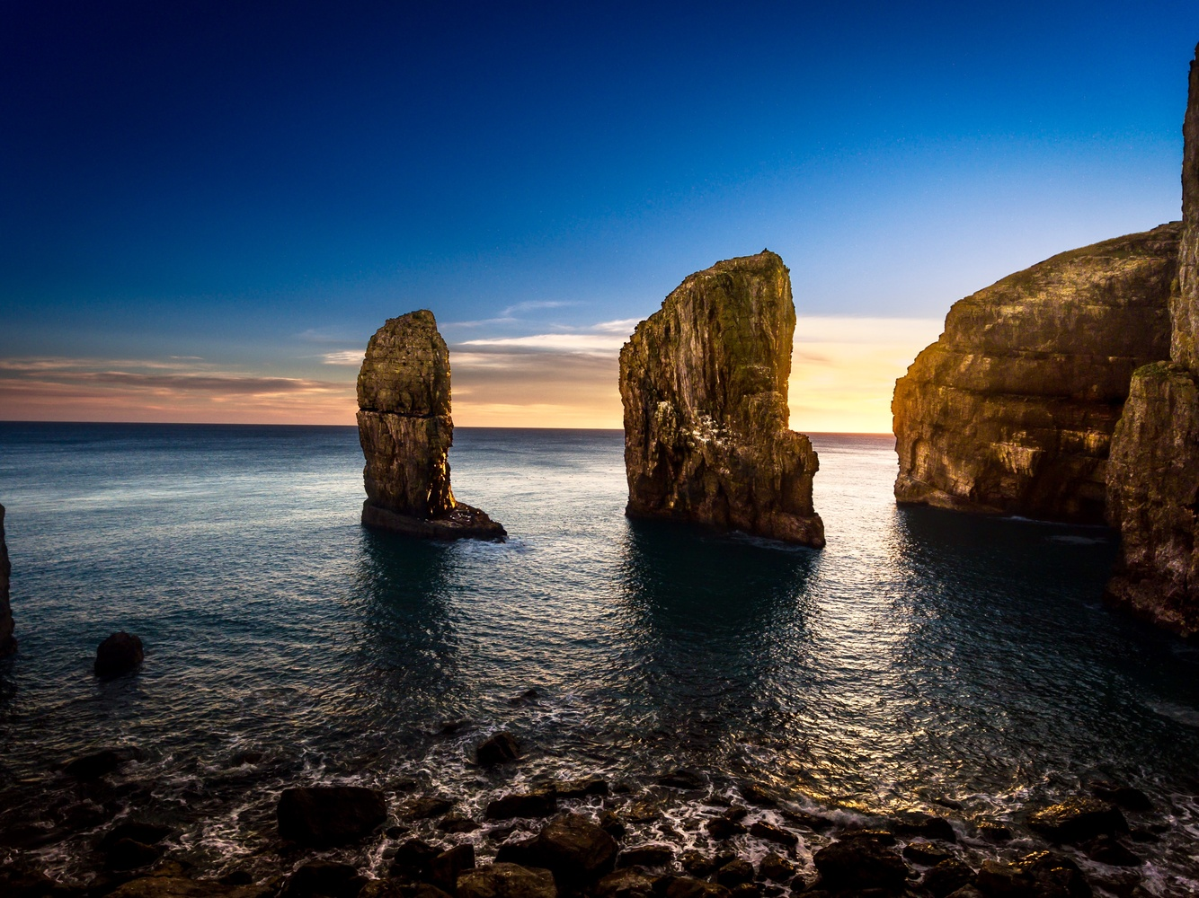 Stack Rocks at Sunset by Stefan Ashby