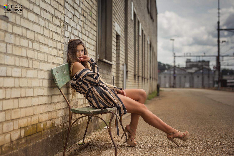 Sittin' on a bench and waitin' by Mladen Dakic
