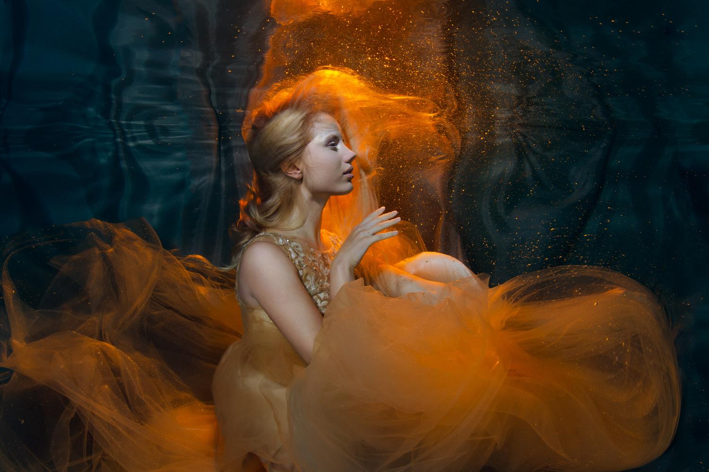 Fire under water by Anna Pyhäjärvi