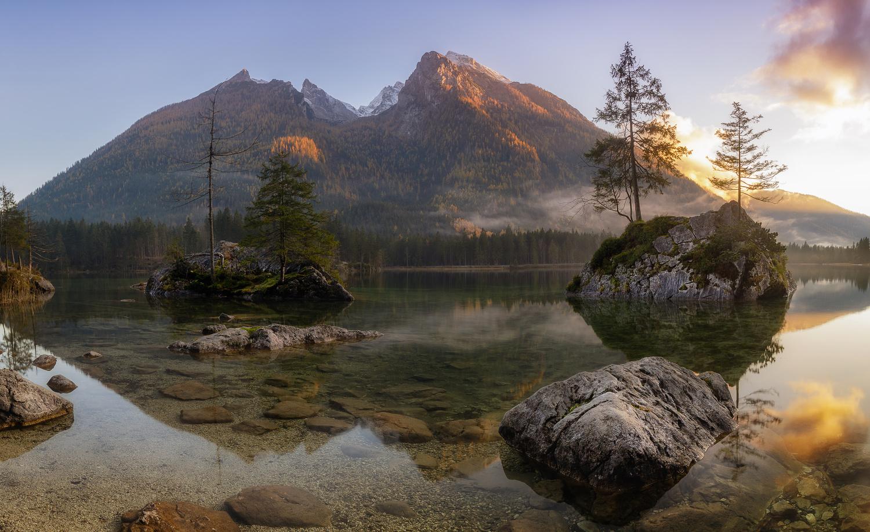 Sunset at Hintersee by Robert Katke