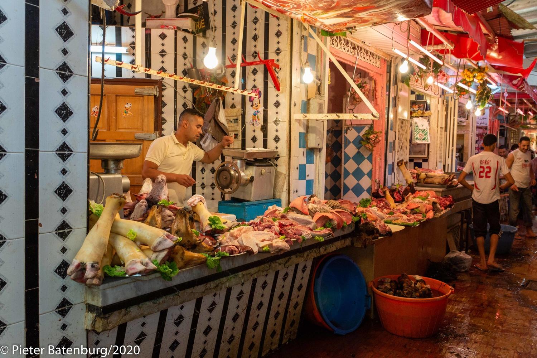Moroccon street market by Pieter Batenburg