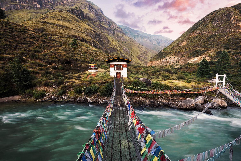 Bhutan Chain Bridge by Ryan Hershey