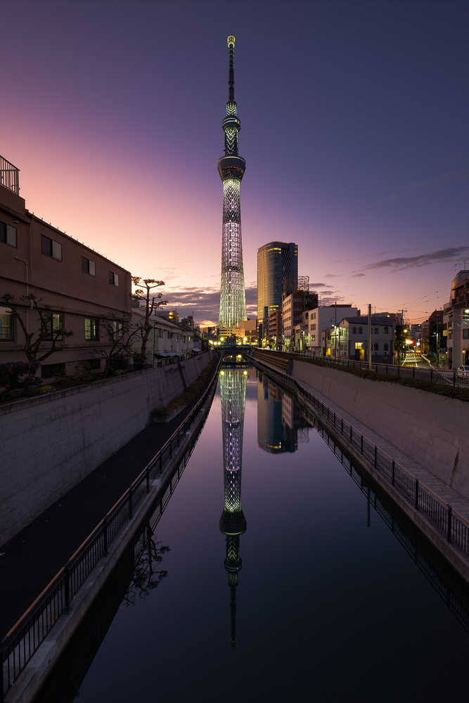 Amazing Tokyo Sunset by Mik Og