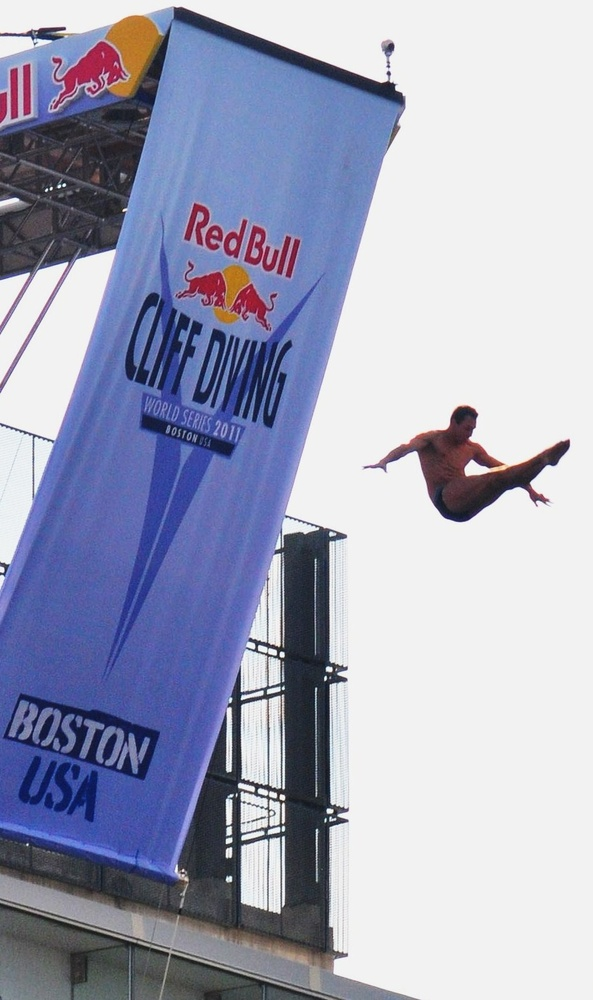 Red Bull Cliff Diving  Boston, Ma  by Jay Smith