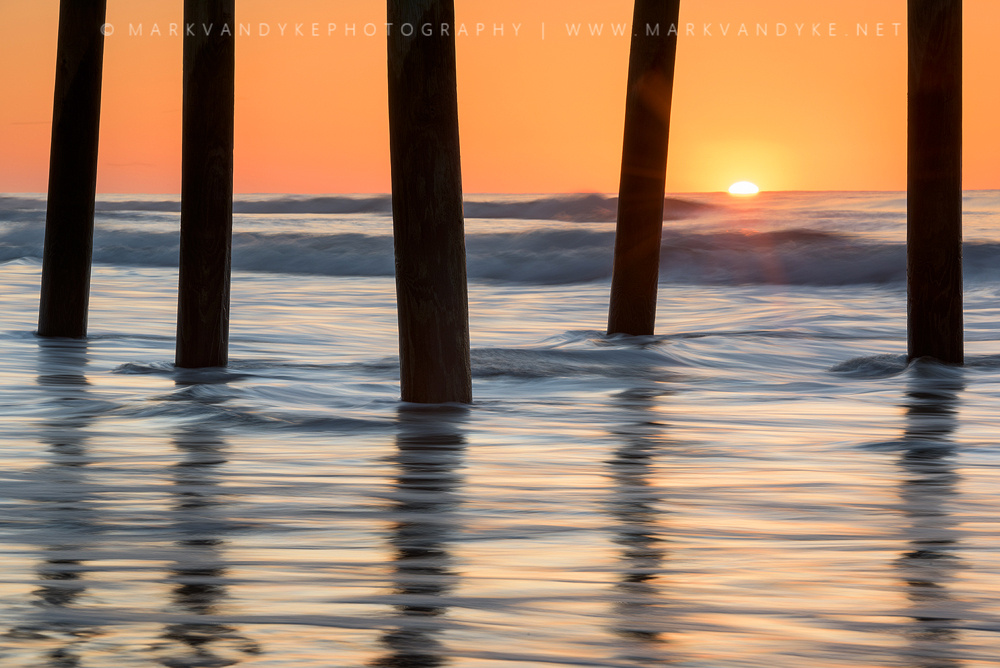 Folly Beach Pier Sunrise Charleston South Carolina by Mark VanDyke