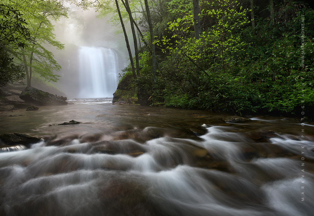 Southern Appalachian Looking Glass Falls by Mark VanDyke