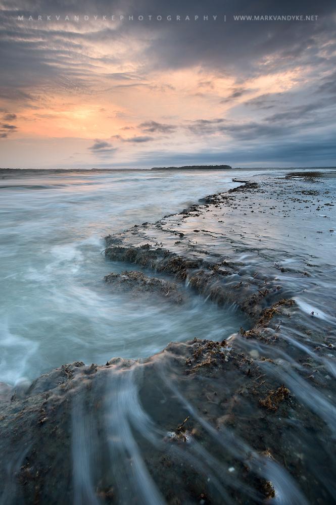 Folly Beach South Carolina Tidal Flat by Mark VanDyke