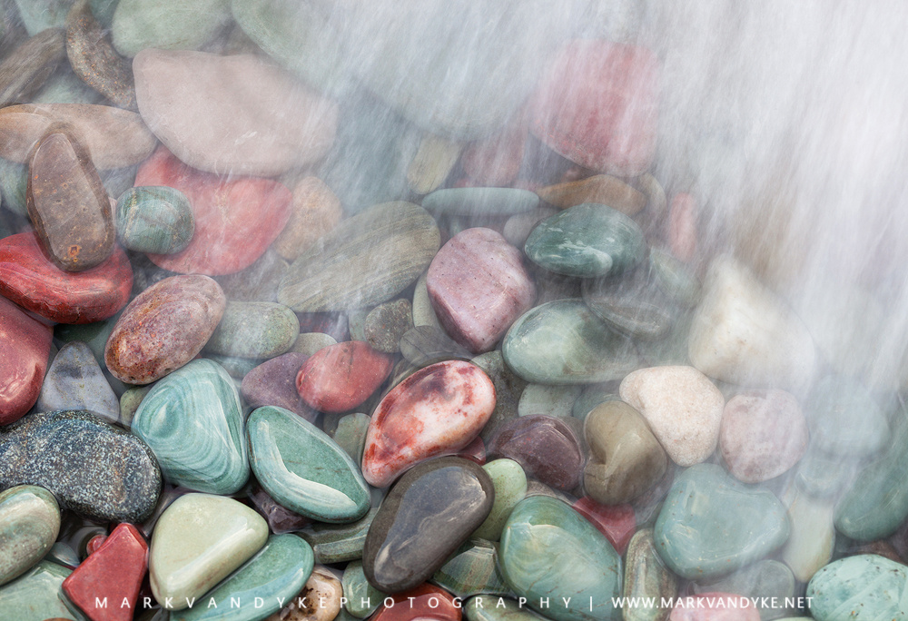 Glacier National Park Colored Stones by Mark VanDyke