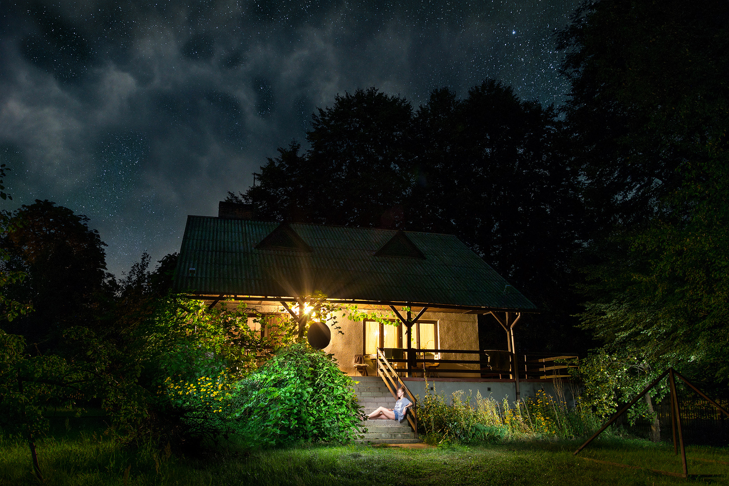 Country House at night by Andy Squib
