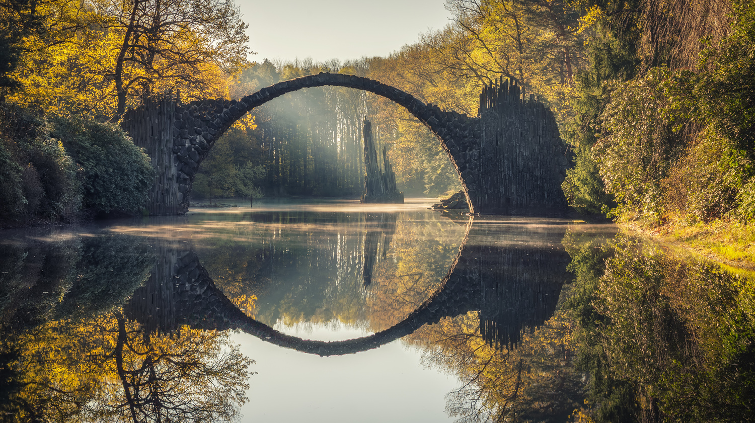 A Paradise in Nature: The Rakotz Bridge. by Lukas Petereit