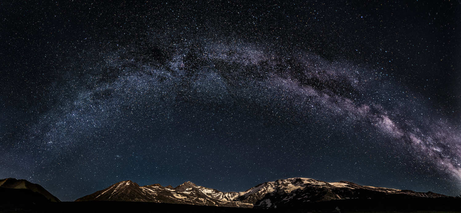 Milky Way over the Mont Blanc. by Lukas Petereit