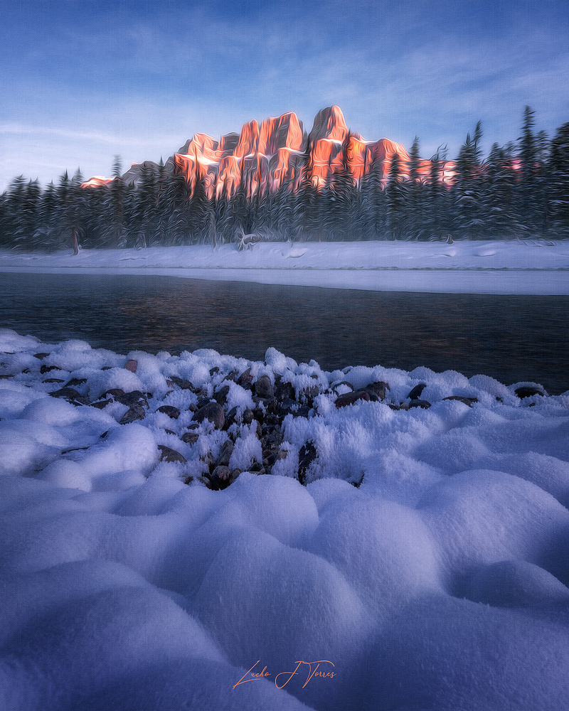 Light at Castle Mountain by Lucho J Torres