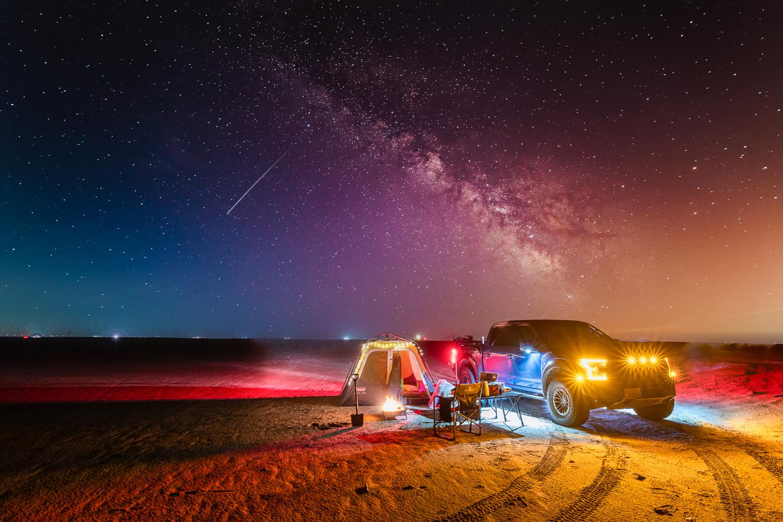 Camping and star gazing by Muhammad Al-Qatam