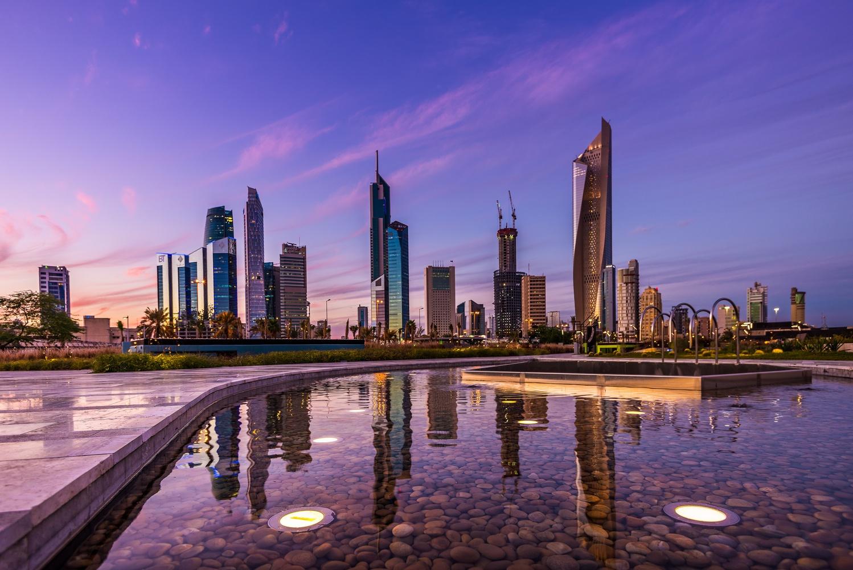 Kuwait city skyline  by Muhammad Al-Qatam