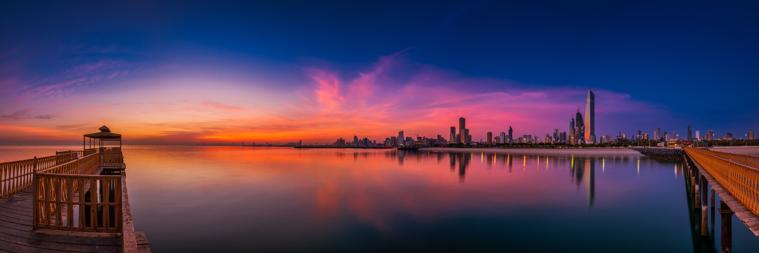 Sunrise panorama by Muhammad Al-Qatam