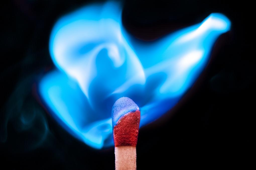 Blue Flame  by Muhammad Al-Qatam