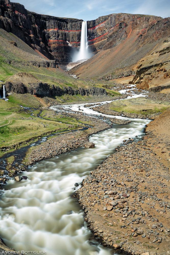 Hengifoss - Iceland by Andrew Bottiglieri