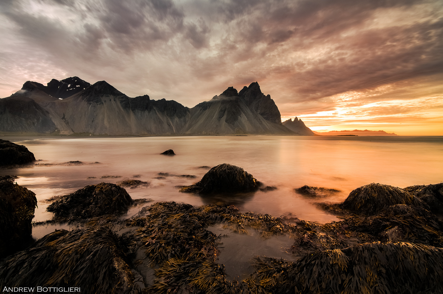 Vesturhorn Mountain by Andrew Bottiglieri
