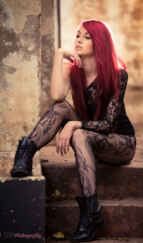 Red head stairs by IDG Photography