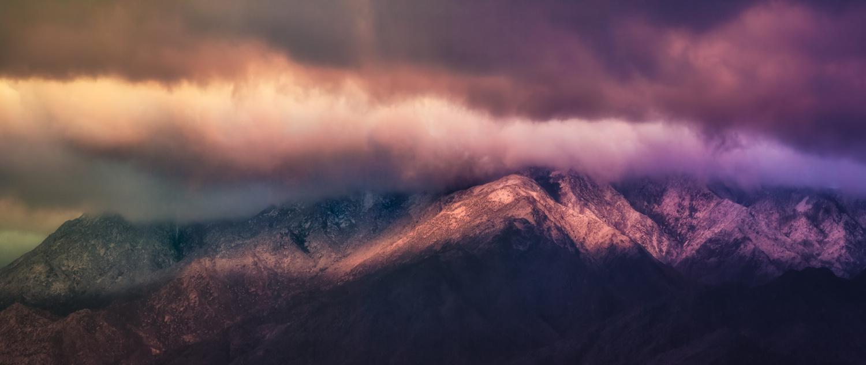 Snow Lining Sunset by Sal Cavazos