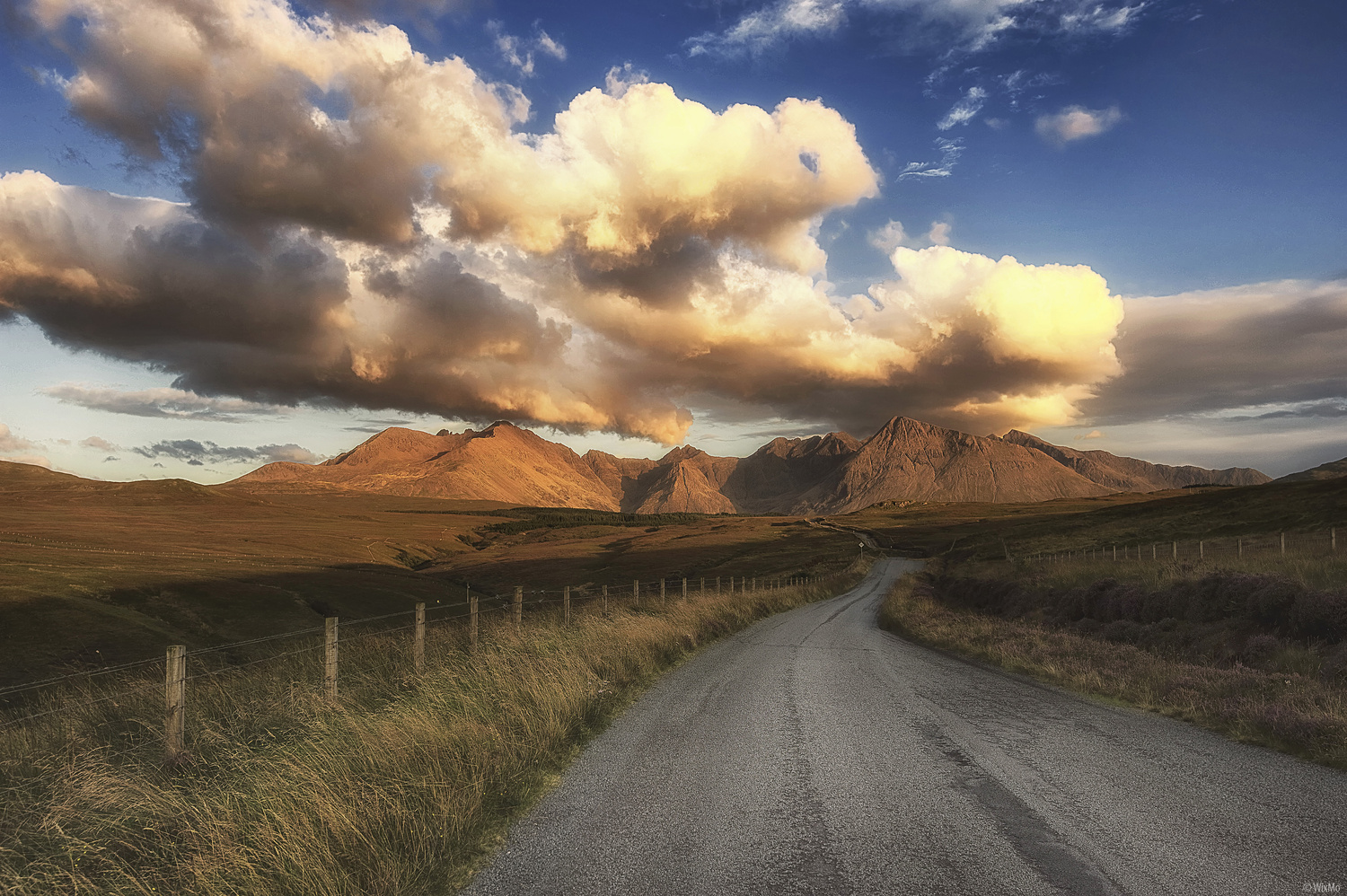 The Road And The Hills by Wix Mo