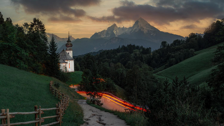 Famous church at sunset by Matthijs Bettman