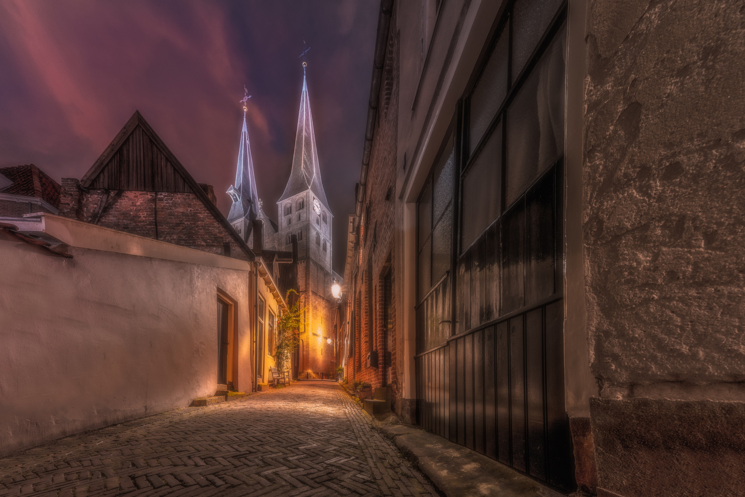The church at the end of the street by Matthijs Bettman