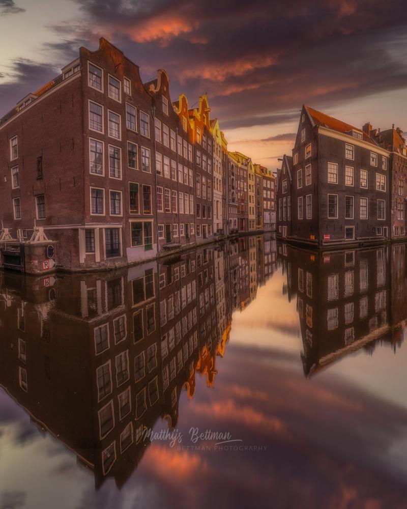 An empty Amsterdam by Matthijs Bettman