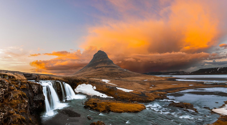 Sunset at Kirkjufull by Matthijs Bettman